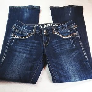 L.A. Idol Bootcut Studded Jeans Size 7